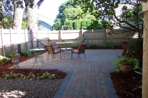 Milwaukee backyard installments, brick patio designs, and hardscaping ideas