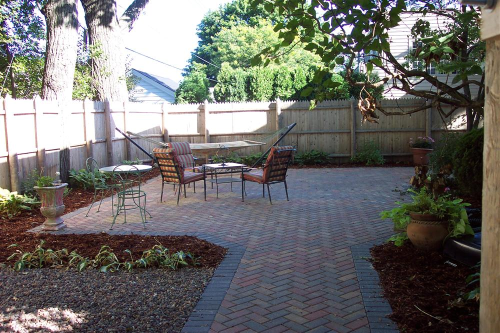 Brick Patio Designed U0026 Installed In Milwaukee Backyard