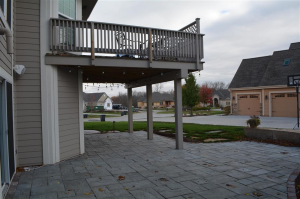 Stone patio installation and design in Pewaukee from hardscaping experts