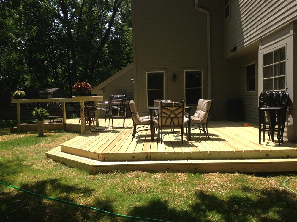 Hartland Deck Installation Milwaukee Deck Design Waterford Deck Beauteous Backyard Deck Design Property