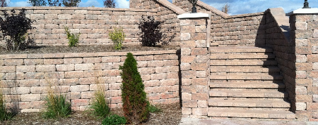 Retaining wall design and construction in Lake Geneva Wisconsin
